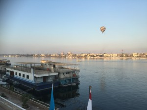 Luxor- View of the West Bank from Across the River Nile